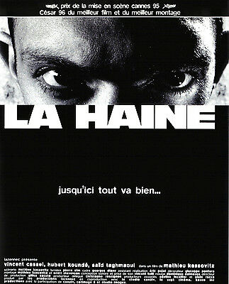 Poster A4 Plastifie-Laminated(1 Free/1 Gratuit)*movie Film Affiche La Haine.
