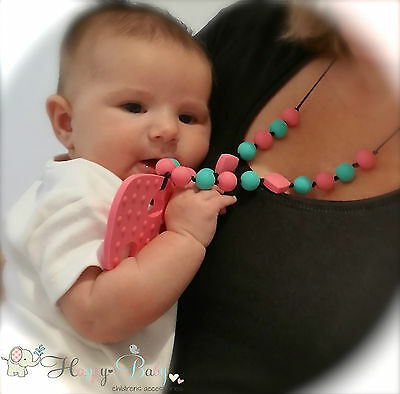 Baby Carrier Accessory! Nursing Necklace for Modern Mommy!Silicone Teething Ring