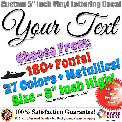 5 custom vinyl lettering decal sticker vinyl boat registration numbers letters