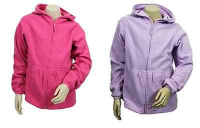 Girls Hoody Fashion Zipped Longsleeve Soft Fleece hoodie Cardigan Light Jacket.