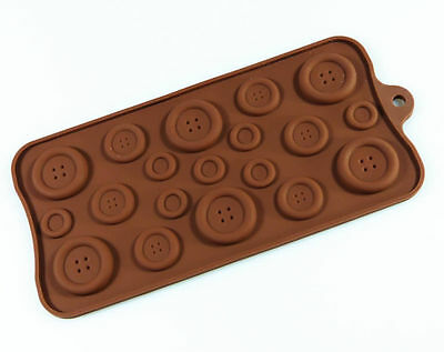 BUTTON Chocolate Candy Silicone Bakeware Mould Mold Resin Wax Melt Soap Craft