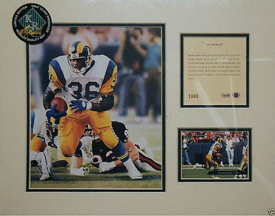 "1994 litho print of Jerome Bettis of the NFL, LA Rams, approx. 11"" x 14"" mat"