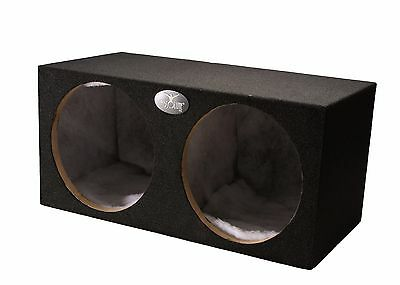 "ABSOLUTE Dual 10"" Sealed MDF Subwoofer/Sub Enclosure Empty Box ( 1.6 Cubic Feet)"