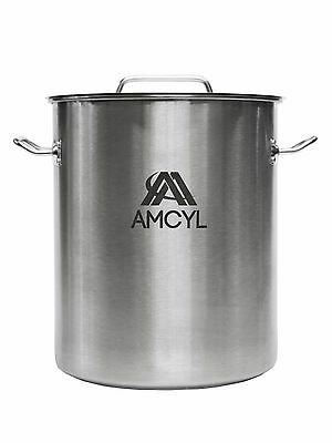 8 Gallon Stainless Steel Kettle with Lid - Homebrew Beer - Free Shipping