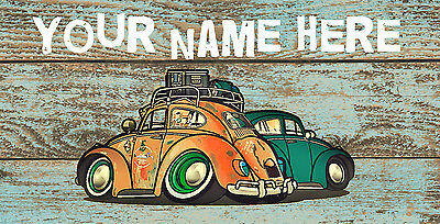 VW Personalised Wooden Name Plaque  Bedroom, Den, Playroom etc Sign