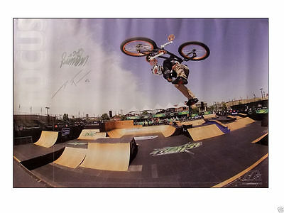 """Vintage Very Rare Dave Mira Hand Signed BMX Bicycle Poster Size 20"""" x 30"""""""