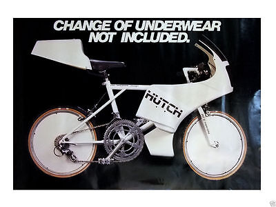 """Vintage Very Rare Huch HPV Superbike Bicycle Poster Size 24.75"""" x 36"""""""