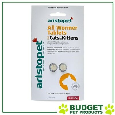 EXP: 01/2019 - Aristopet AllWormer For Cat And Kittens 2pk