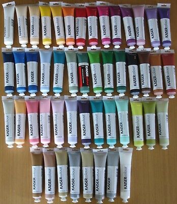 U Choose) 48 KAISER Colour Artists Acrylic Paints 75ml Tubes Paint Pouring