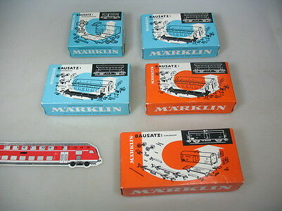 L839-0,5# 5x Märklin/Marklin H0 Empty box 4909+4918+4802 for Kit-car