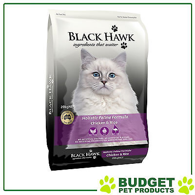 Black Hawk Holistic Feline Dry Chicken And Rice For Adult Cats 20kg