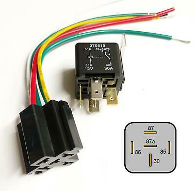 5 Pin 12V 30A Relay With Prewired Base For Protection Starter On/Off Switch