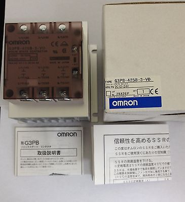NEW OMRON G3PB-425B-3-VD DC12-24V Solid State Relay - Industrial Mount Solid 25A