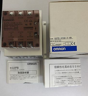 X1 New Omron G3Pb-425B-3-Vd Dc12-24V Solid State Relay
