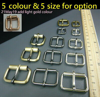 Metal Rectangle/Square Roller Buckles DIY Handbag/Belt/Purse/Boots Leather Craft