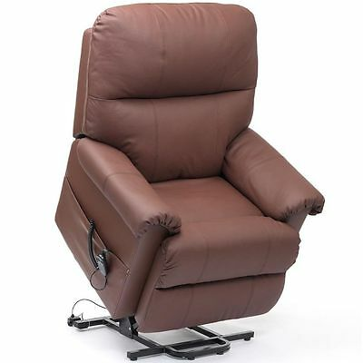 Restwell Borg Dual Motor leather electric riser and recliner mobility lift chair