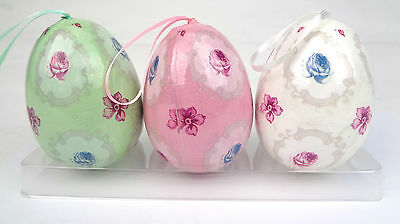 3x Easter Decorations Hanging Eggs Buy John Lewis   (c31)
