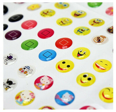330 PC Lovely Cartoon Home Button Sticker For iPhone 7 Plus 6 6S Plus iPad Mini