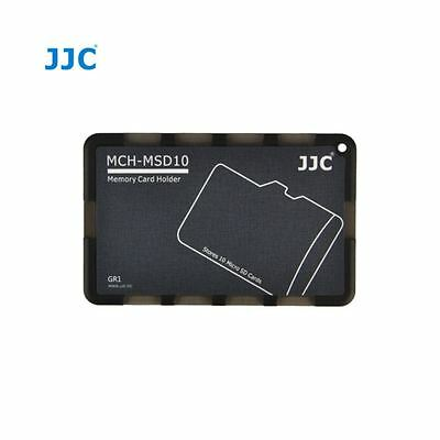 JJC MCH-MSD10 Credit Card Size Memory Card Holder Hard Case for 10 x Micro SD
