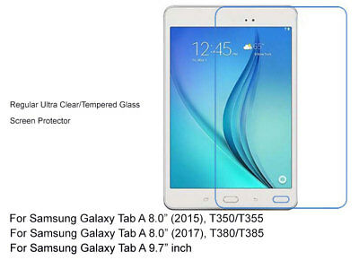 """Regular Ultra Clear/Tempered Glass Screen Protector For Galaxy Tab A 8"""" 9.7"""""""