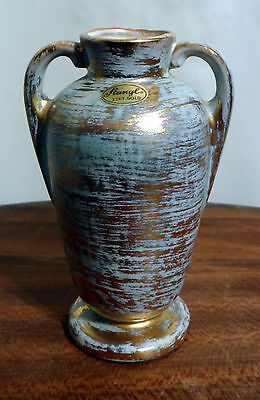 Vintage hand painted Stangl Granada Gold #3117 two handled vase/urn