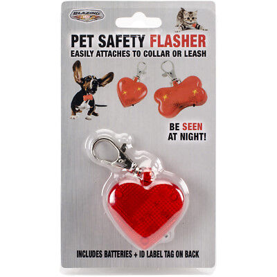 Pet Safety Flasher Red Heart 900233