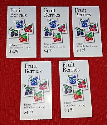 New 100 (5 Booklets x 20) POLLINATION 41 ¢ 2-Sided US Postage Stamps Sc# 4153-56