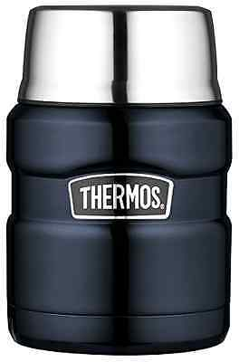 Thermos Stainless Steel King 16 Ounce Food Workout Travel Jar, Midnight Blue New