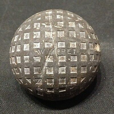 Antique Vintage Old Whippet Square Mesh Circa 1920 Golf Ball Very Good Condition