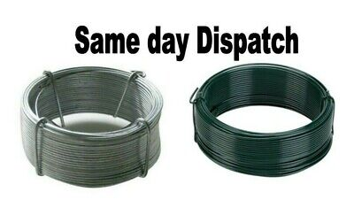 Heavy Duty Galvanised / Green Pvc Garden Wire Fencing Outdoor Various Lengths