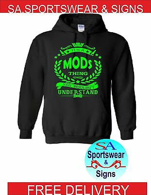 ADULTS IT/'S A MODS THING YOU WOULDNT UNDERSTAND UNION JACK MOD HOODIE SIZES S-XL
