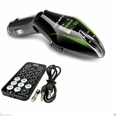 Car FM Radio Transmitter Remote Audio Wireless MP3 USB Sd Card Slot iphone 5/S 6