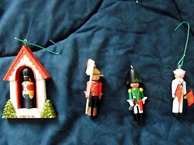 Hallmark Ornament  Lot of 4 Vintage - 3 CLOTHESPIN SOLDIERs & 1TwirlAbout No Box
