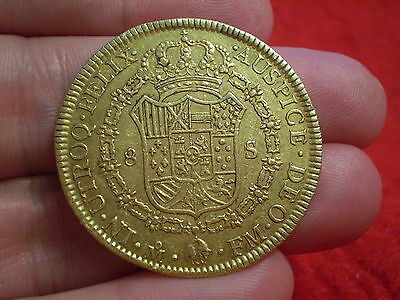 Superb Grade/Date 1772 Gold 8 Escudos/Doubloon Carolus 111 Mexico Mint MOFM Nice
