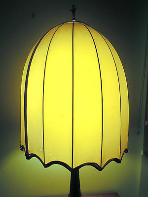 Large Vintage Brass Lamp With Shade