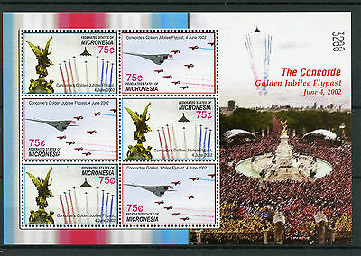 Micronesia 2006 MNH Concorde Queen Golden Jubilee Flypast 6v M/S Red Arrows
