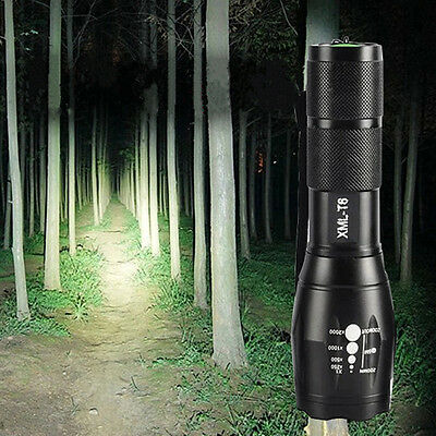 2000LM UltraFire CREE XML-T6 LED ZOOMABLE ZOOM 18650 Flashlight Torch Lamp