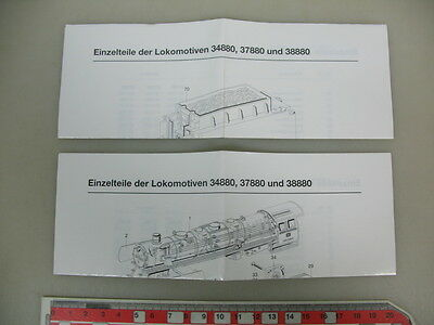 O12-0,5# Märklin/Marklin H0 parts drawing 34880/37880/38880 for steam locomotive