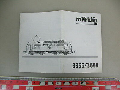 O9-0,5# Märklin/Marklin H0 Manual 3355/3655 for electric locomotive