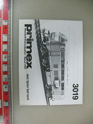 O8-0,5# Märklin/Primex H0 Manual 3019 from 1988 for Diesel locomotive