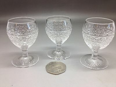 Really Sweet Really Tiny Vintage Cut Glass Liqueur Glasses