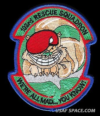 USAF 103rd RESCUE SQ - WE'RE ALL MAD YOU KNOW - PJ'S - SAR- COMBAT RESCUE PATCH