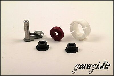 BMW e30 Delrin Carrier Shifter bushing rebuild kit: Cup, clip and rear bushing