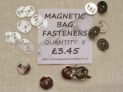Magnetic Fasteners clasps.18mm. Heavy duty. Metal Nickle. Suitable for bags etc