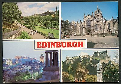 Posted 1977. Views of Edinburgh - Princess Street Gardens, St. Giles Cathedral