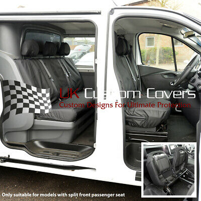 Vauxhall Vivaro Double Cab 2014-19 Tailored Front  Rear Seat Covers 188 189