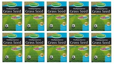10 x Chatsworth Multipurpose Grass Seed 250g Thicker Greener Lawn 10M2 Coverage