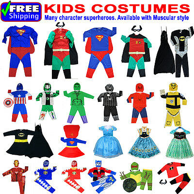 New Kids Costumes Boys Party Superheroes Avenger Birthday Boys Girls Batman Gift