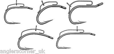Mustad BBS Carp Fishing Hooks - Solid Welded Pre-Made D-Loop - D Rig Hook /Leeda