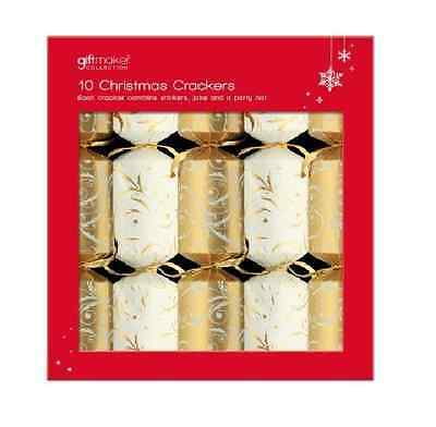 Anker Christmas Crackers Gold & Cream Crackers Pack 10
